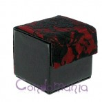 Odinė prezervatyvų dėžutė (juoda/raudoni neriniai)