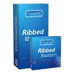 Pasante Ribbed (3vnt. dėžutė) prezervatyvai
