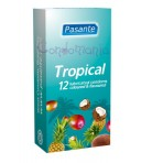 Pasante Tropical Flavours (12vnt. dėžutė) prezervatyvai