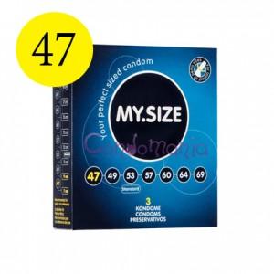 MySize 47 dydžio prezervatyvai (vienetais)