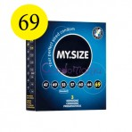MySize 69 dydžio prezervatyvai (vienetais)