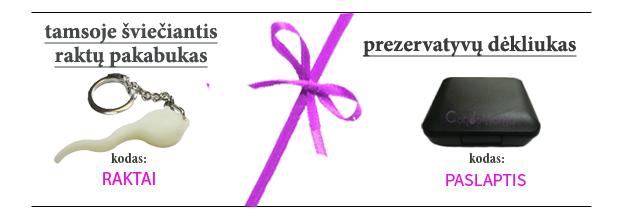 Condomania dovana su užsakymu